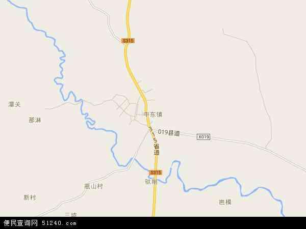 中东镇地图 - 中东镇卫星地图