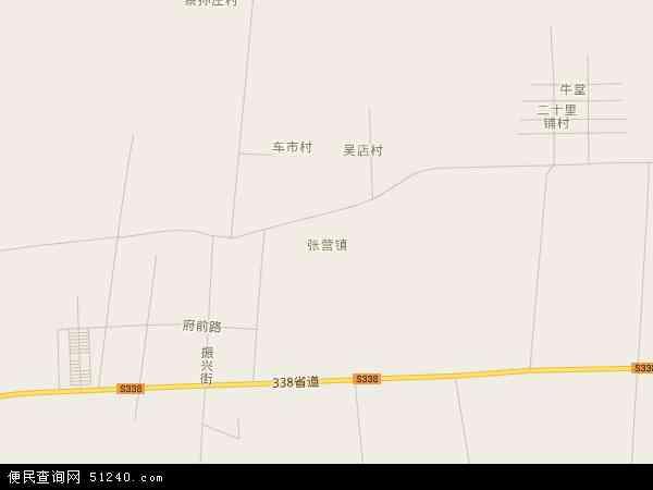 中国山东省菏泽市郓城县张营镇地图(卫星地图)