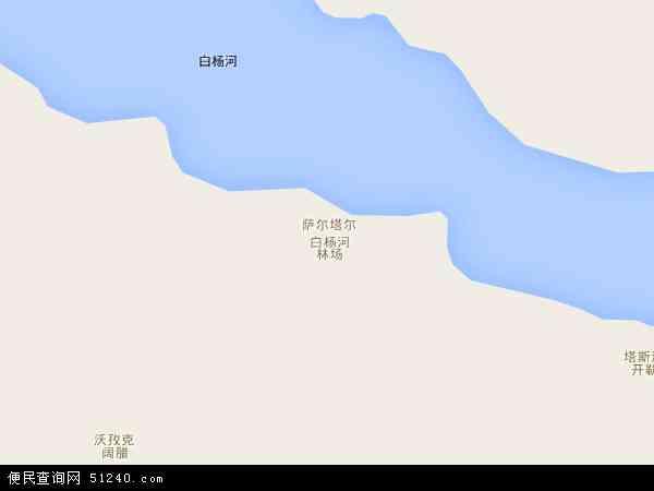 自治区塔城地区托里县白杨河林场地图(卫星地图)
