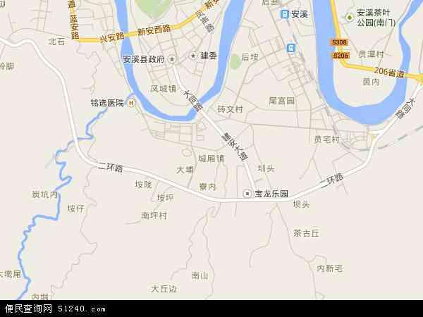 中国福建省泉州市安溪县城厢镇地图(卫星地图)