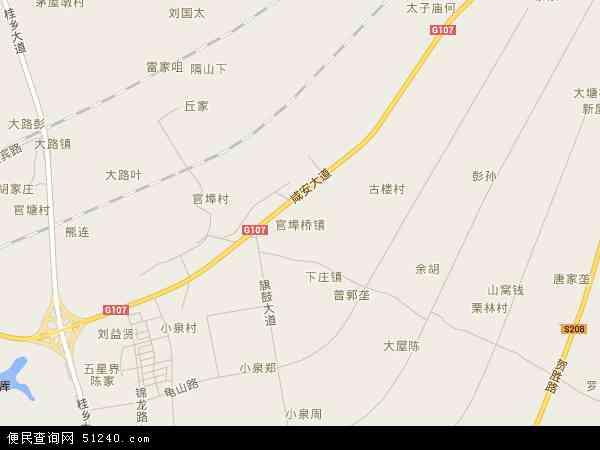 官埠桥镇地图 - 官埠桥镇电子地图 - 官埠桥镇高清地图 - 2018年官埠