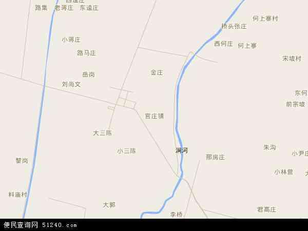 中国河南省南阳市宛城区官庄镇地图(卫星地图)