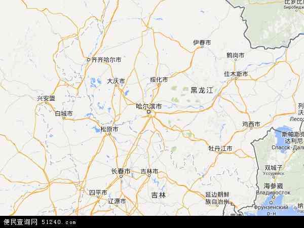 黑龙江省地图 - 黑龙江省卫星地图
