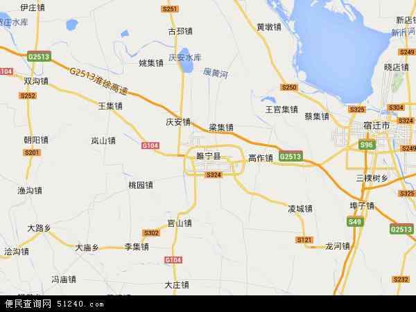 中国江苏省徐州市睢宁县临空产业园地图(卫星地图)