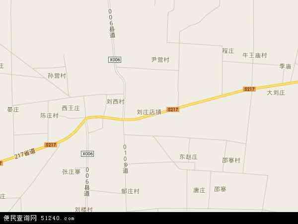 刘庄店镇地图 - 刘庄店镇卫星地图