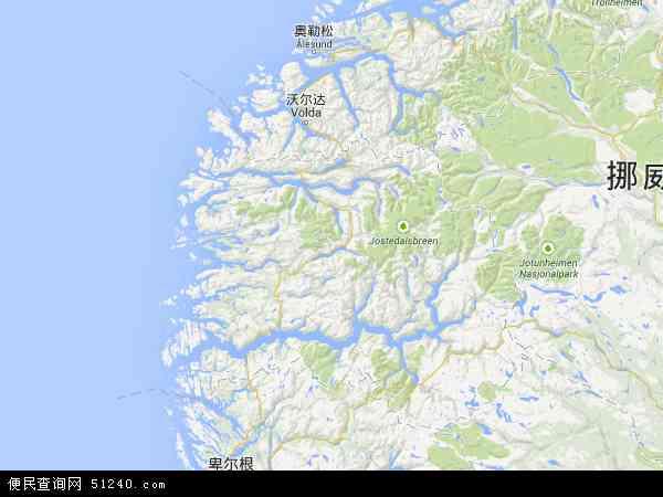 挪威松恩-菲尤拉讷地图(卫星地图)