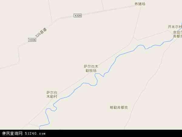 萨尔也木勒牧场地图 - 萨尔也木勒牧场卫星地图 - 萨尔也木勒牧场高清航拍地图 - 萨尔也木勒牧场高清卫星地图 - 萨尔也木勒牧场2017年卫星地图 - 中国新疆维吾尔自治区塔城地区额敏县萨尔也木勒牧场地图