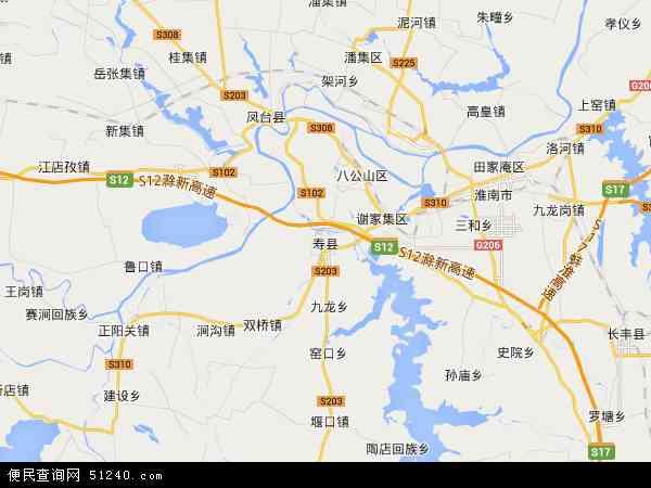寿西湖农场高清卫星航拍地图