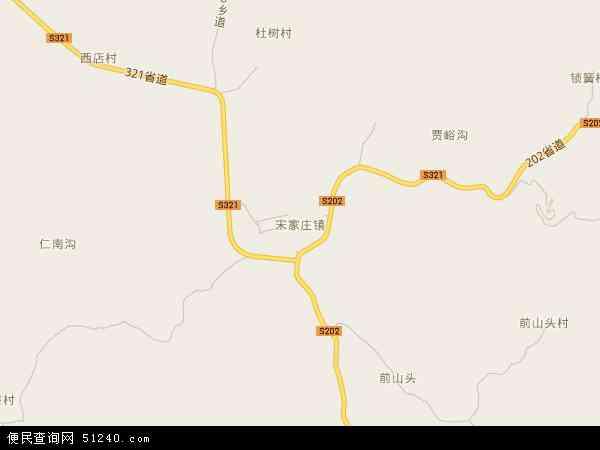 中国河北省邢台市邢台县宋家庄镇地图(卫星地图)