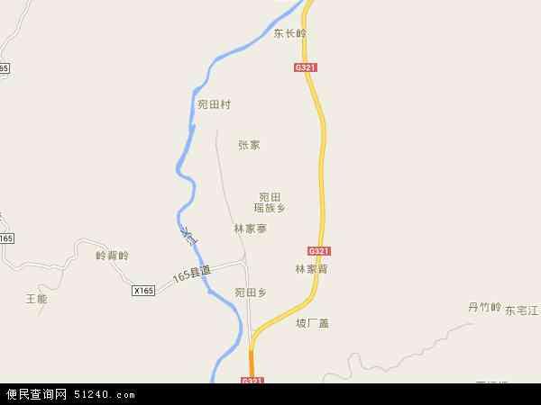 宛田瑶族乡2016年卫星地图 中国广西壮族自治区桂林市临桂区宛田瑶
