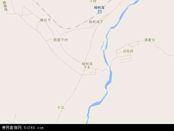 中国辽宁省葫芦岛市建昌县杨树湾子乡地图(卫星地图)