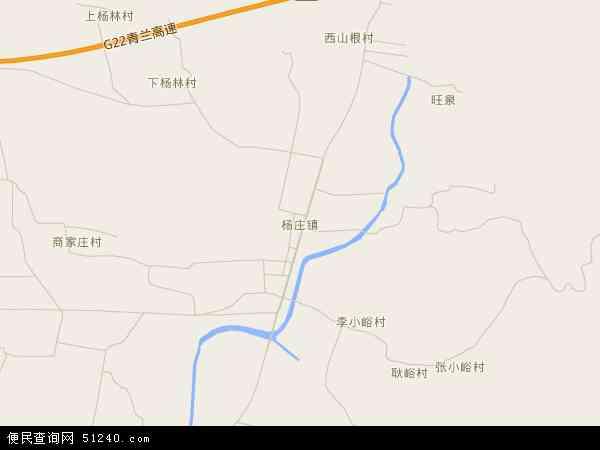 中国山东省临沂市沂水县杨庄镇地图(卫星地图)