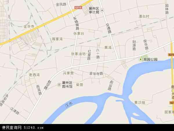 中国湖北省襄阳市襄州区张湾办事处地图(卫星地图)