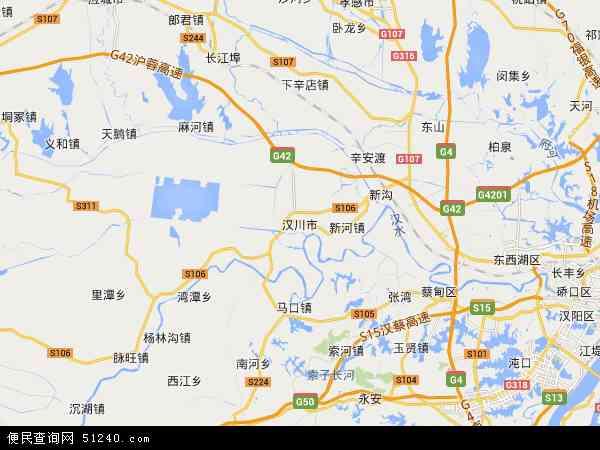 中国湖北省孝感市汉川市汈汊湖养殖场地图(卫星地图)