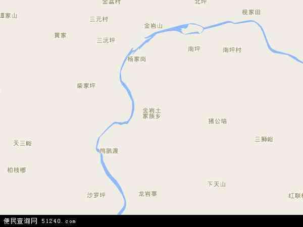 中国湖南省张家界市慈利县金岩土家族乡地图