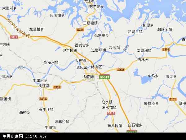龙岭工业园2016年卫星地图 中国湖南省益阳市赫山区龙岭工业园地图