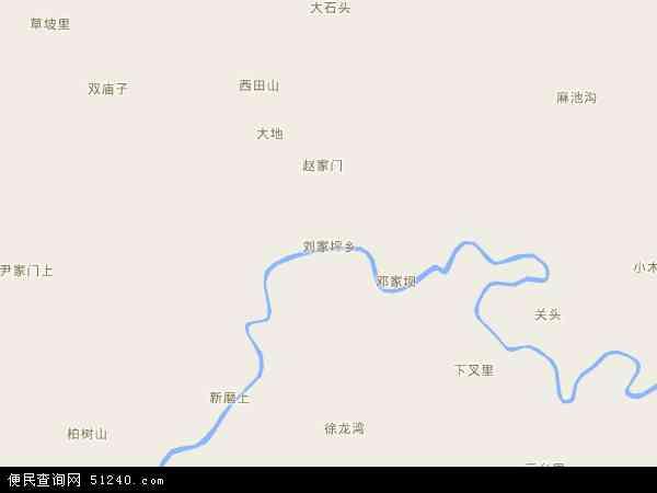 中国甘肃省陇南市文县刘家坪乡地图(卫星地图)