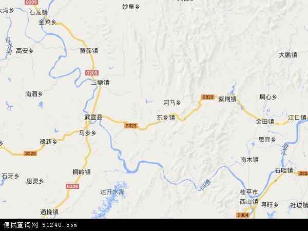 黔江农场地图 - 黔江农场卫星地图 - 黔江农场高