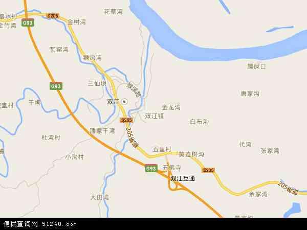 中国重庆市潼南县双江镇地图(卫星地图)