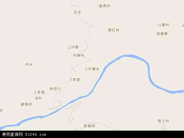 中国贵州省毕节市织金县上坪寨乡地图(卫星地图)
