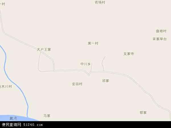中国青海省海东市民和回族土族自治县中川乡地图(卫星地图)