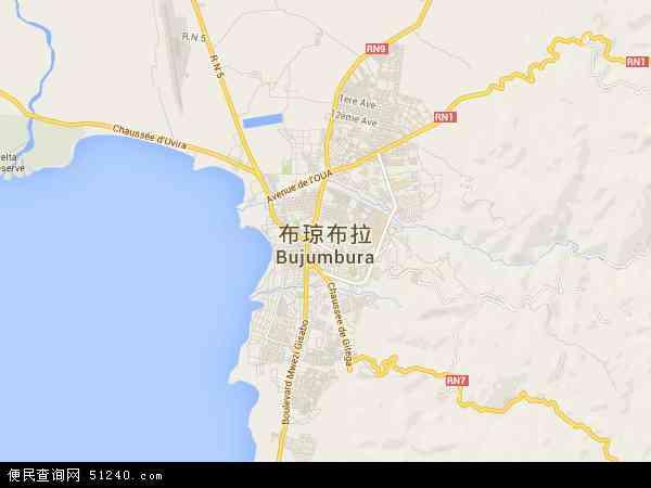 布隆迪布琼布拉乡村地图(卫星地图)
