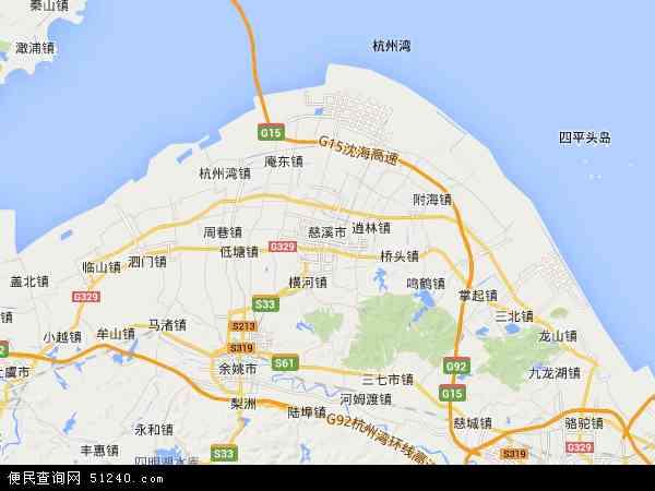 慈溪市农垦场地图 - 慈溪市农垦场卫星地图