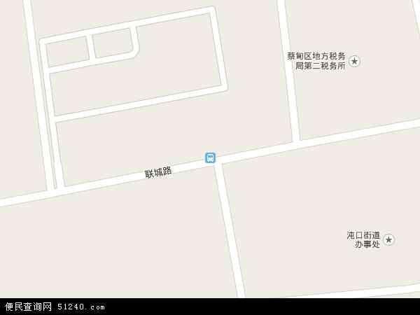 中国湖北省武汉市蔡甸区沌口街办事处地图(卫星地图)