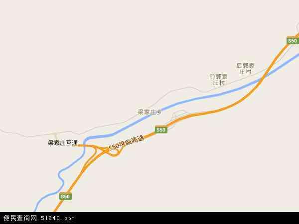 梁家庄乡2017年卫星地图 中国山西省吕梁市岚县梁家庄乡地图图片