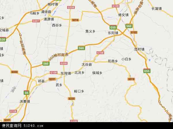 中国山西省晋中市太谷县南城区管委会地图(卫星地图)