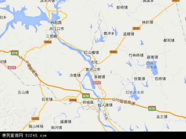 中国湖北省襄阳市老河口市蔬菜原种场地图(卫星地图)