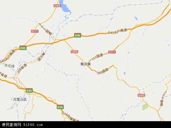 中国内蒙古自治区赤峰市敖汉旗国营种羊场地图