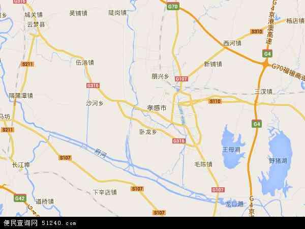 中国湖北省孝感市孝南区孝南区肖港镇地图(卫星地图)
