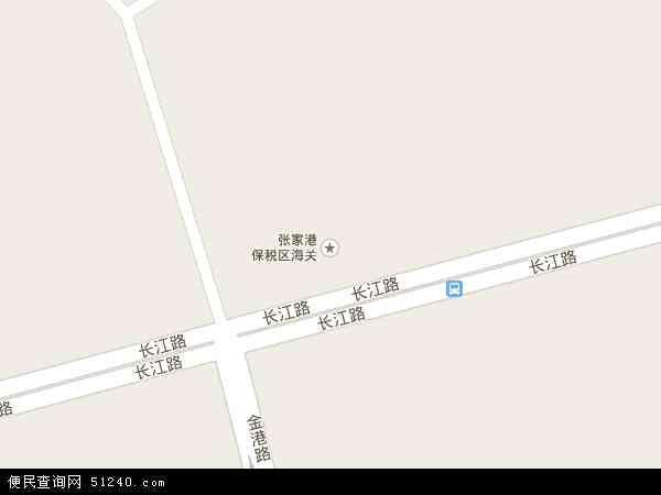 张家港保税区地图 - 张家港保税区卫星地图
