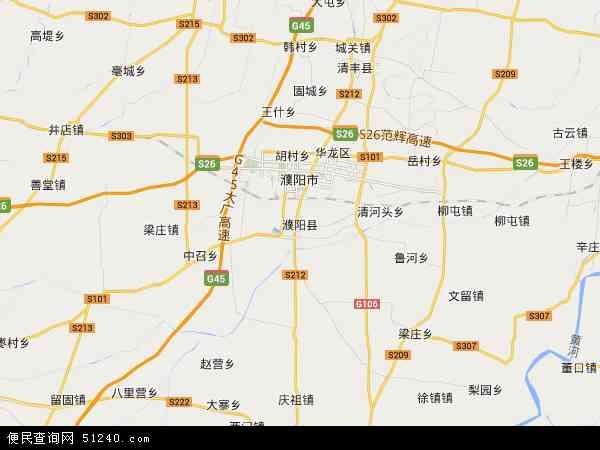 濮阳县白罡乡地图 - 濮阳县白罡乡卫星地图
