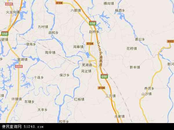 安徽新芜经济开发区地图 - 安徽新芜经济开发区电子地图 - 安徽新芜