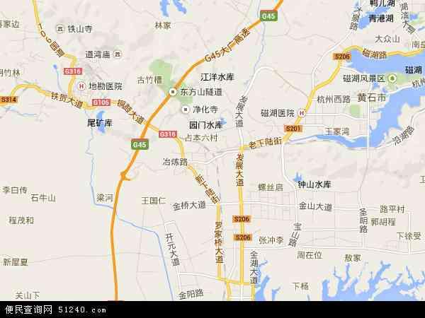 中国湖北省黄石市下陆区社区事务管理委员会地图
