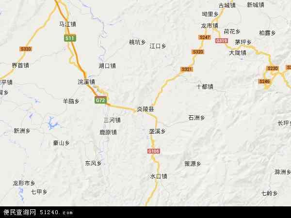 中国湖南省株洲市炎陵县炎陵县大院农场地图