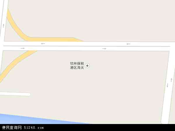 广西钦州保税港区地图