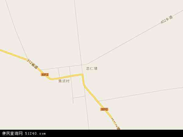 中国黑龙江省鹤岗市绥滨县忠仁镇良种场地图(卫星地图)