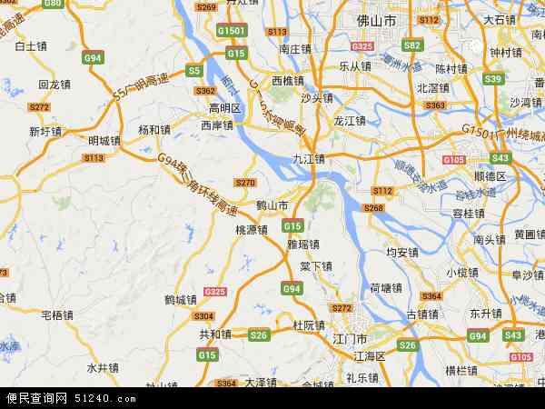 广东省江门监狱地图 - 广东省江门监狱电子地图 - 广东省江门监狱高清