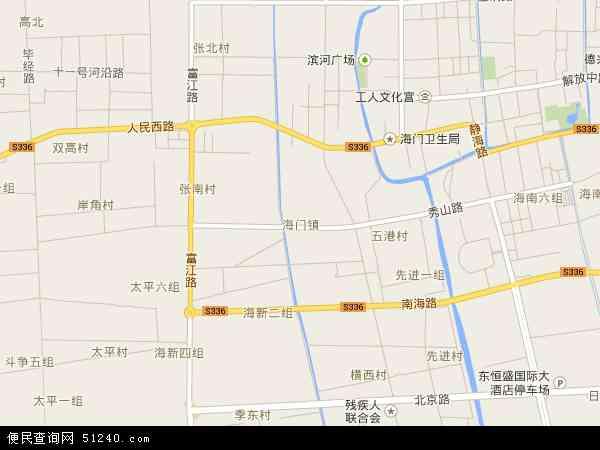中国江苏省南通市海门市海门市畜禽良种场地图(卫星地图)