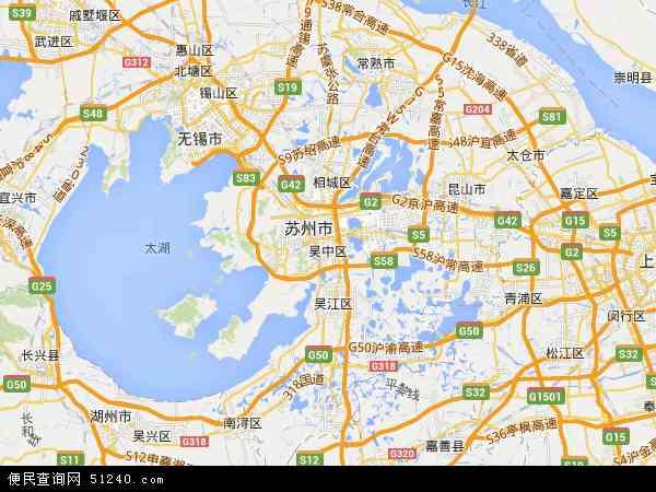 中国江苏省苏州市吴中区江苏省太湖采石公司地图(卫星地图)
