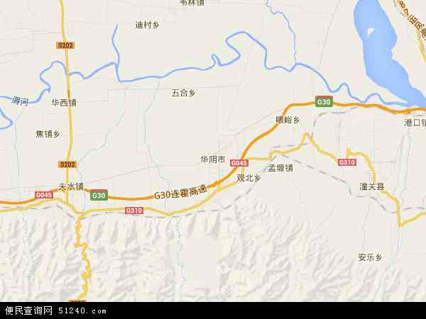 国营陕西华山企业公司地图