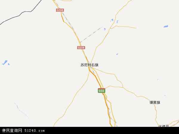 苏尼特右旗朱日和工业园区地图