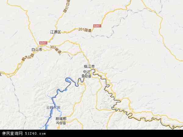 中国吉林省白山市临江市临江硅藻土工业集中区地图