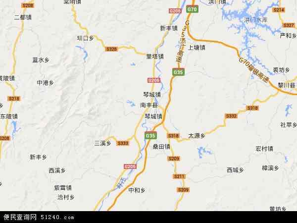 南丰县长红垦殖场地图