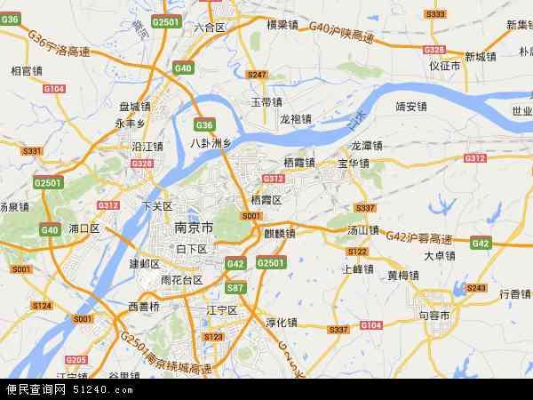 中国江苏省南京市栖霞区江苏生命科技创新园地图(卫星地图)