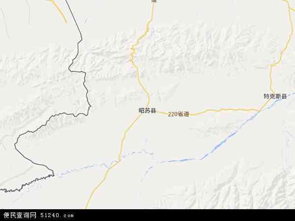 自治区伊犁哈萨克自治州昭苏县天山西部林业局昭苏林场地图(卫星地图)