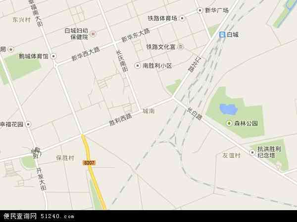 城南街道办事处(工业园区)地图 - 城南街道办事处(工业园区)电子地图